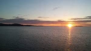 Zonsondergang op weg naar Prince Rupert